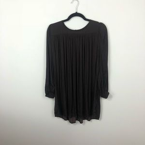 UO Kimchi blue brown blouse XS